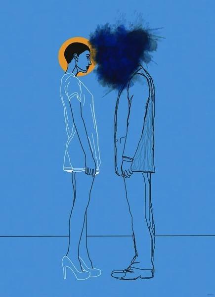 مساحة زرقاء